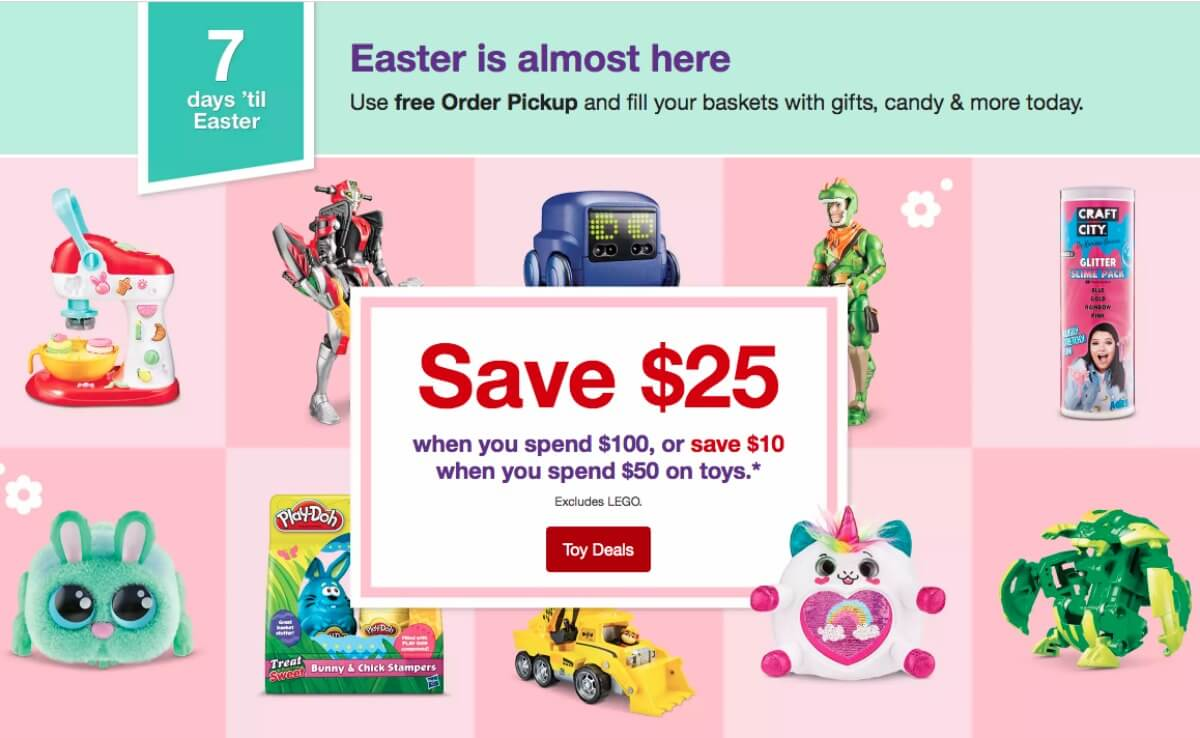 b4eb4cc3114a Save $25 On Toys & Games Purchases $100+, or $10 Off $50 at Target ...
