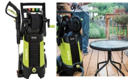 50% Off Sun Joe 2030 PSI 1.76 GPM 14.5 AMP Electric Pressure Washer with Hose Reel