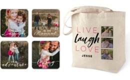 Pick 4! Tote Bag, Set of Coasters, Notebook, and/or Key Ring at Shutterfly {Just Pay Shipping}