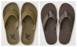 Up to 40% off Men's Flip Flops at American Eagle & Aerie - As Low as $12