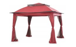 Wilson & Fisher Red Pop Up Canopy with Netting, (11' x 11') $99.99 Shipped! (Reg. $159.99)