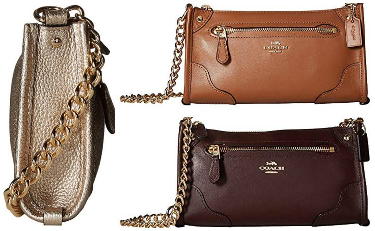 216d40a7b50e Hot Price! 67% off Coach Grain Leather Mickie CrossbodyLiving Rich ...