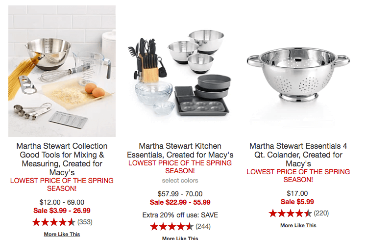 Get A 10 Piece Martha Bakeware Set For Only 19 99 Reg 50 Or 7 Kitchen Utensil Just 5 Many More Choices