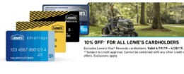 10% Off for Lowe's Credit Card Holders, 4/19-4/20 Only