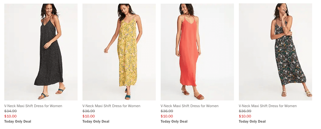390abfb79be Today Only at Old Navy  Select Women s Maxi Dresses Just  10