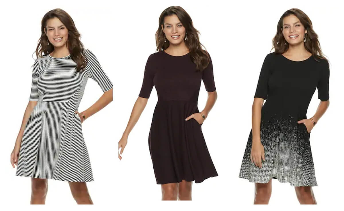 801c2501c31 What a great deal on a this cute dress at Kohl s. Plus it s a great staple  piece to have in your closet that will go with everything.