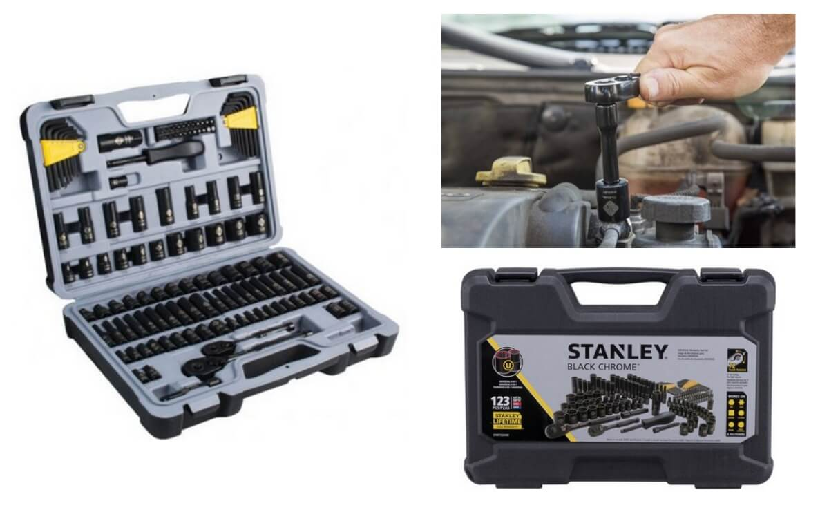 bdb93be50 STANLEY 123-Piece Mechanics Tool Set Only  44.97 + Free Shipping ...