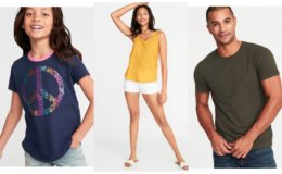 Today Only at Old Navy - Tanks $2, Tees Just $3-$4