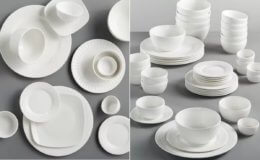 Gibson White 42-Piece Dinnerware Set, Service for 6 for $39.99 (Reg. $120)