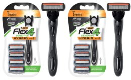$2 Off BIC Flex 4 Sensitive Hybrid Men's 4-Blade Razor, 1 Handle, 4 Cartridges at Amazon