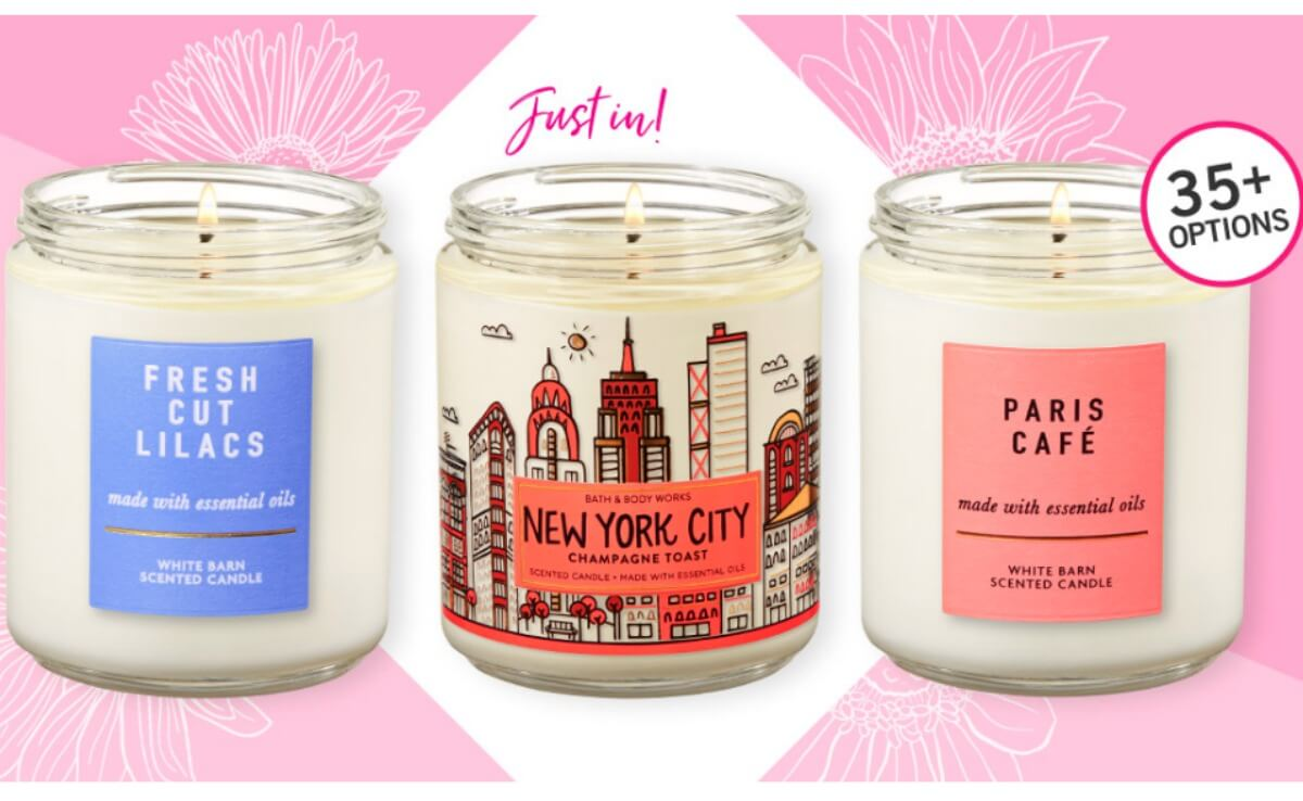 Bath & Body Works Single Wick Candles $5 95 Each (Reg