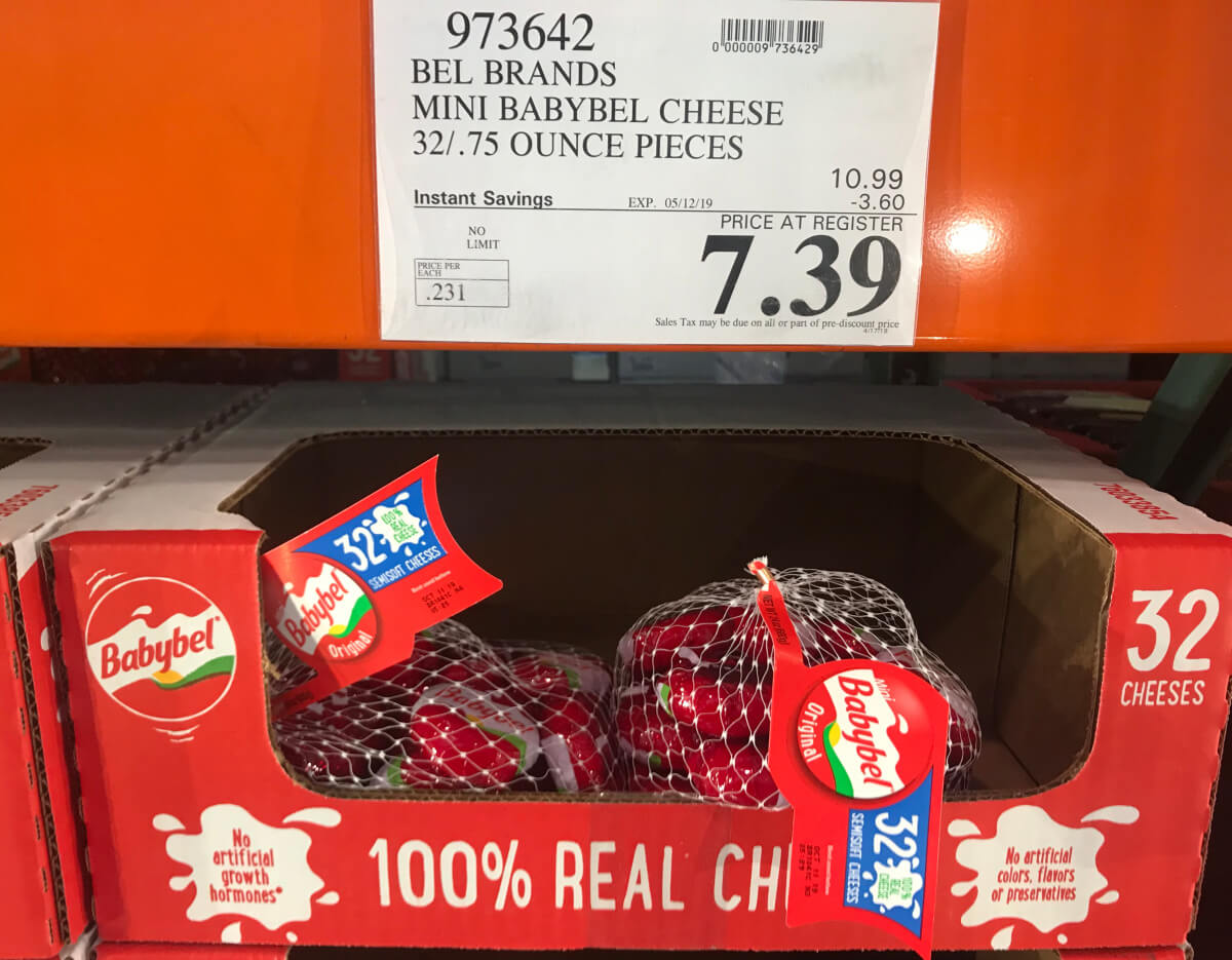 Costco Hot Deal On Mini Babybel Cheese 0 23 Per Wheel