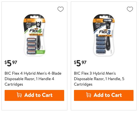 $1 Money Maker on BIC Flex Hybrid Men's Razors at Walmart