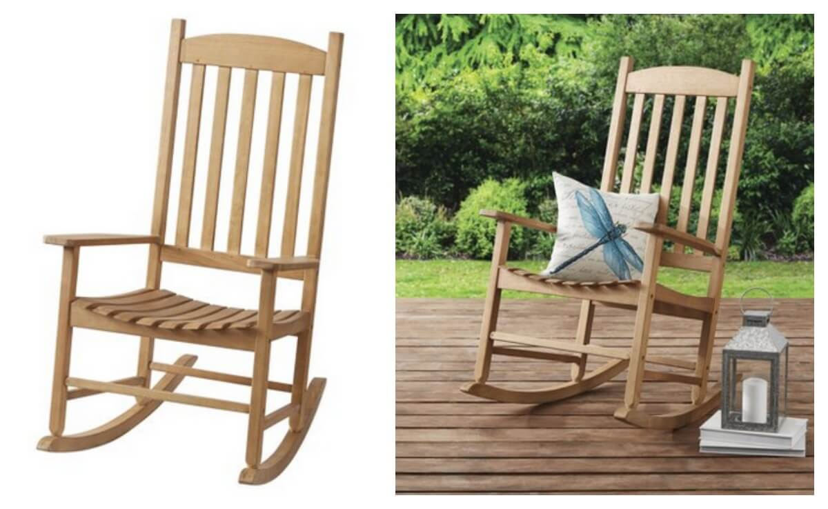 Mainstays Solid Wood Slat Outdoor Rocking Chair $69.97