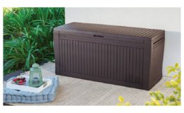 Save 38% on Keter Comfy 71 Gallon Deck Box on Amazon!