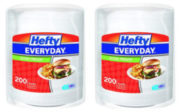 Stock Up Price! Hefty Everyday Plates 200 ct with 25% Off Coupon!