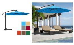 Best Choice Products 10ft Offset Hanging Market Patio Umbrella $62.97 (Reg.$150.99) at Walmart!