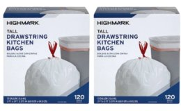 Highmark Trash Bags, 13 Gallons, Box Of 120 Bags $4.65 (Reg. $13.49) - $.04/Bag