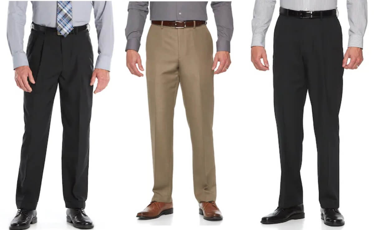 d57a15a8 Kohl's Cardholders: Men's Croft & Barrow Dress Pants $10.96/Pair + Free  Shipping