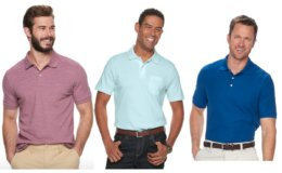 Kohl's Cardholders: Men's Polo Shirts- 6 for $35 {$5.83 Each} + Free Shipping