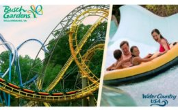 3 Day Admission to Busch Gardens Williamsburg and Water Country USA $52.99 (Reg. $119.99)