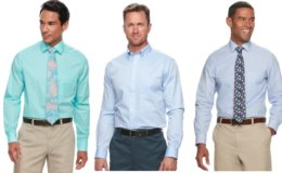 Kohl's Cardholders: Men's Croft & Barrow or Apt 9 Dress Shirts- 6 for $35 {$5.83 Each} + Free Shipping