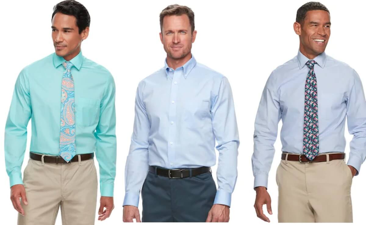 9ae7629a43a5f Kohl's Cardholders: Men's Croft & Barrow or Apt 9 Dress Shirts- 6 for $35  {$5.83 Each} + Free Shipping