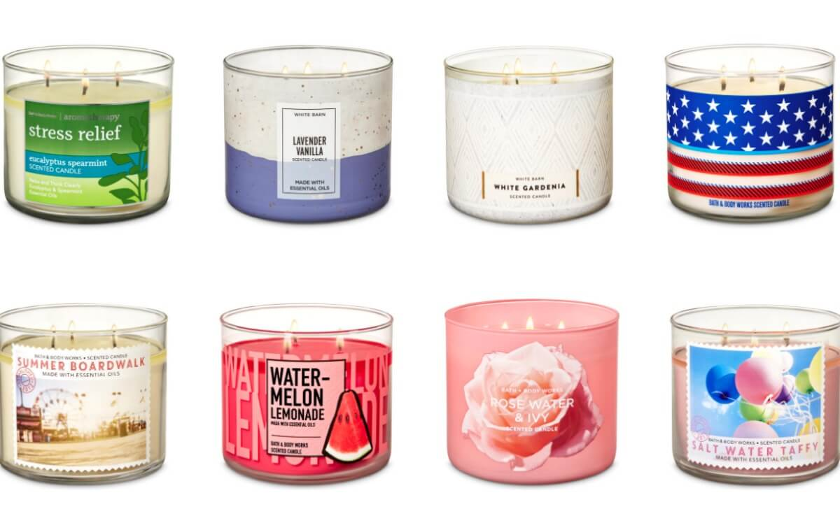 Bath Body Works 3 Wick Candles 8 Each