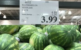 Unadvertised Deal on Large Seedless Watermelons - $3.99 each at Costco!