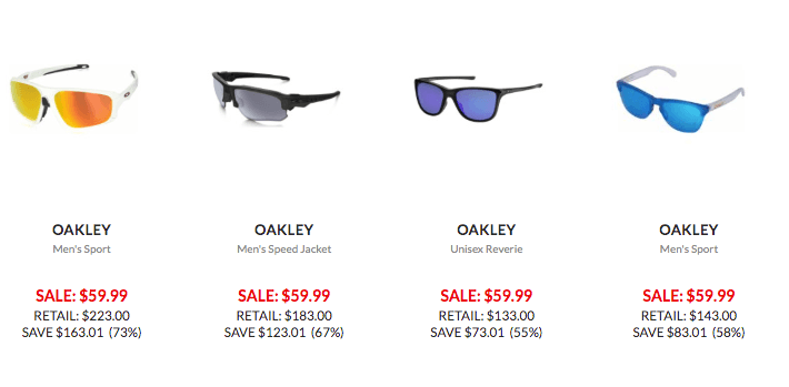 d45b5a66b2 Tons Of Styles of Ray-Ban & Oakley Sunglasses just $59.99! |Living ...