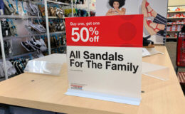 BOGO 50% off Sandals for the Family at Target!