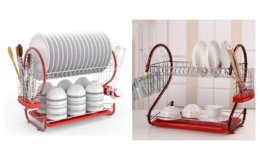 Hot Promo Code! Yealsha 2-Tier Dish Rack Stainless Steel Dish Drying Rack {Amazon}