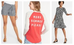 50% Off All Women's Shorts Tees & Dresses at Old Navy!