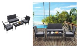 Update: Costway 4 PCS Outdoor Patio Rattan Wicker Furniture Set Now $152.99 + Free Shipping!