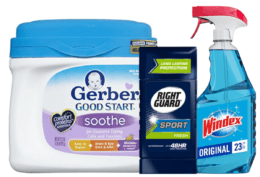 Today's Top New Coupons - Save on Windex, Gerber, Right Guard & More