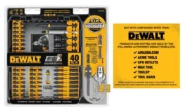 Hot Price on DEWALT DWA2T40IR IMPACT READY FlexTorq Set on Amazon!