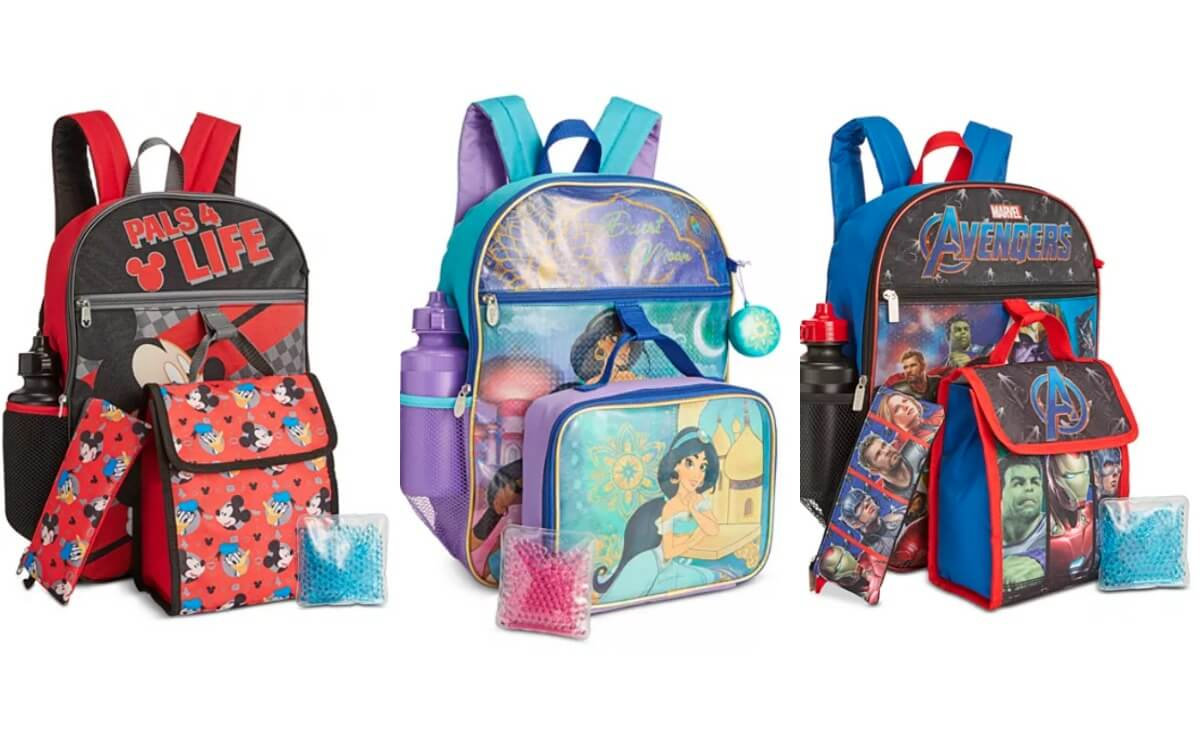 5 Piece Kids Backpack Amp Lunch Bag Sets Toy Story