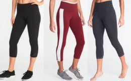 Old Navy Today Only! Women's & Girl's Compression Crops just $10