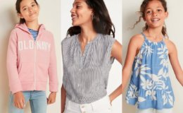 Old Navy Today Only! Kid's Fleece $8, Sleeveless Tops $6-$8