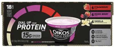 Costco: Hot Deal on Dannon Oikos Triple Zero Yogurt - $0 47