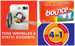 Stock Up Price on Bounce Fabric Softener and Dryer Sheets, 120 Count