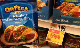 Ortega Seasoning Mixes only $0.50 at Stop & Shop
