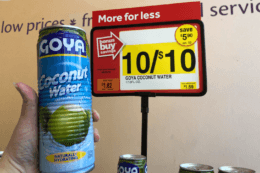 Goya Coconut Waters only $1 at Stop & Shop {No Coupons Needed!}