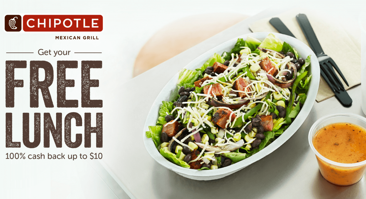 Get Free Lunch at Chipotle! {Ibotta Rebate}  Living Rich