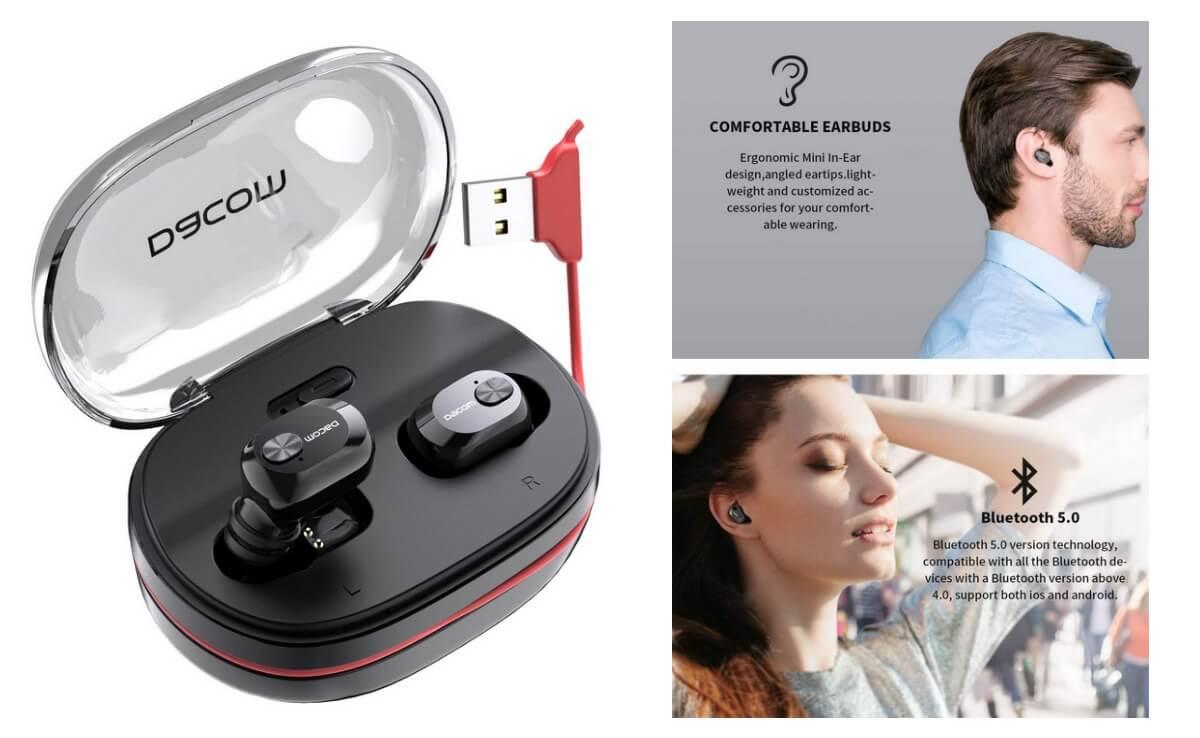 Hot Deal! DACOM Wireless Headphones Bluetooth 5 0 True Wireless