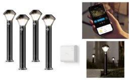 Prime Day Deals: 44% Off - Introducing Ring Smart Lighting - Pathlight, Black (Starter Kit: 4-pack)