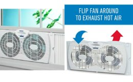 50% Off Holmes Dual Blade Twin Window Fan $15.05 (Reg. $29.99)