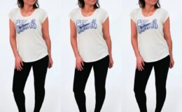 Lucky Brand Women's T-Shirt with Black Leggings just $5!