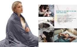 HUGE Discount! 50% off 15lb Weighted Blanket!