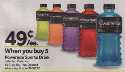 image regarding Printable Powerade Coupons referred to as Powerade Beverages simply $0.49 at Prevent Retailer 8/23 -No Discount codes